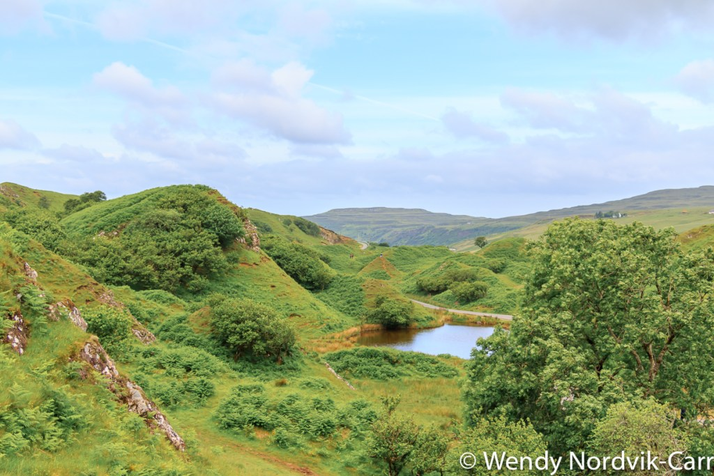 Getting to the Fairy Glen - Discover the enchanted geological landscape of Fairy Glen on the Isle of Skye, Scotland. The area looks as if it could be the home to magical faeries. Photo Credit: Wendy Nordvik-Carr©