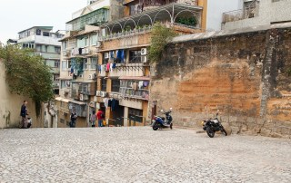 Sections of the Old Wall of Macau can still been seen in the city. Discover more at LifesIncredibleJourney.com Photo Credit: Wendy Nordvik-Carr©