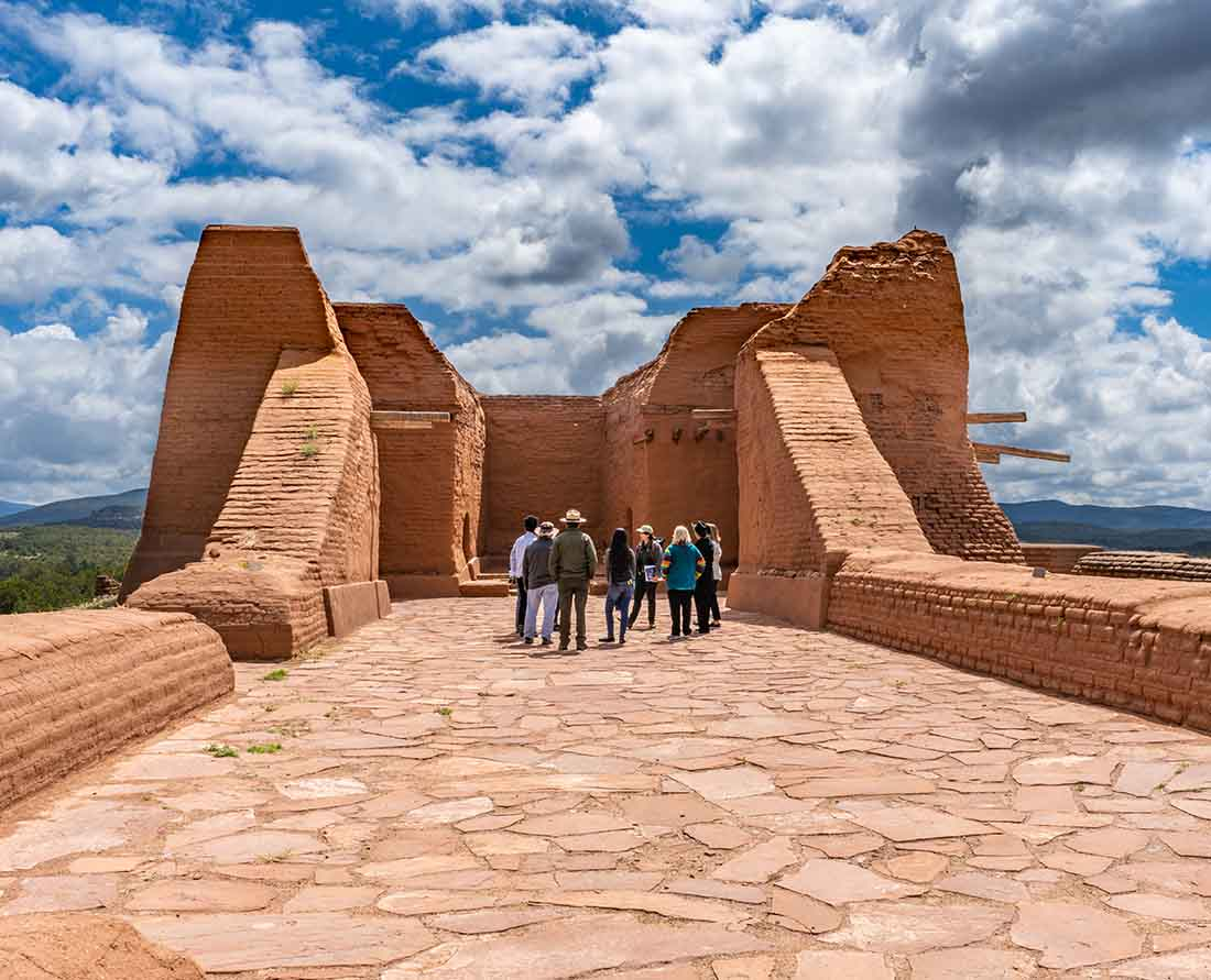 Pecos National Historic Park is one of the top places to visit near Santa Fe New Mexico. Photo: New Mexico True