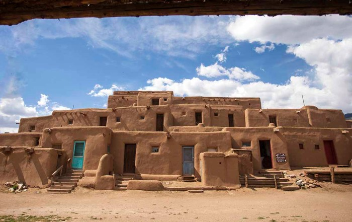 Taos Pueblo New Mexico is one of the top things to see near Santa Fe New Mexico. Photo: New Mexico TRUE