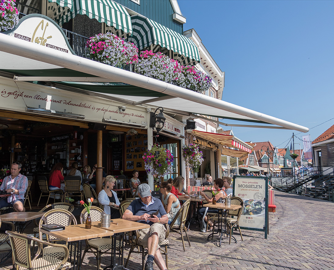 Dutch Food - The historic streets of the charming town of Volendam in the Dutch countryside - The historic streets of the charming town of Volendam in the Dutch countryside. Photo Credit: Wendy Nordvik-Carr©