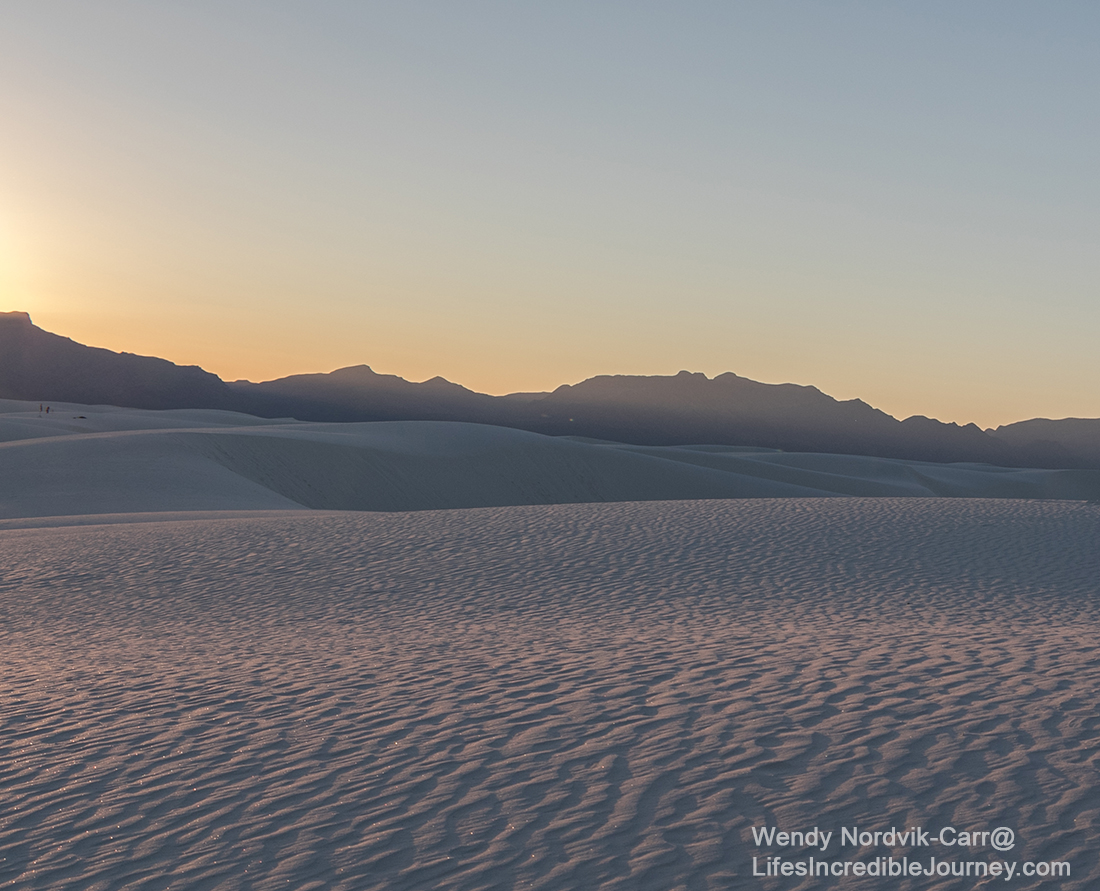 Discover the world's largest gypsum dunes in White Sands, New Mexico. Explore the stunning, pristine white sand dunes of White Sands National Monument. Photo Credit: Wendy Nordvik-Carr