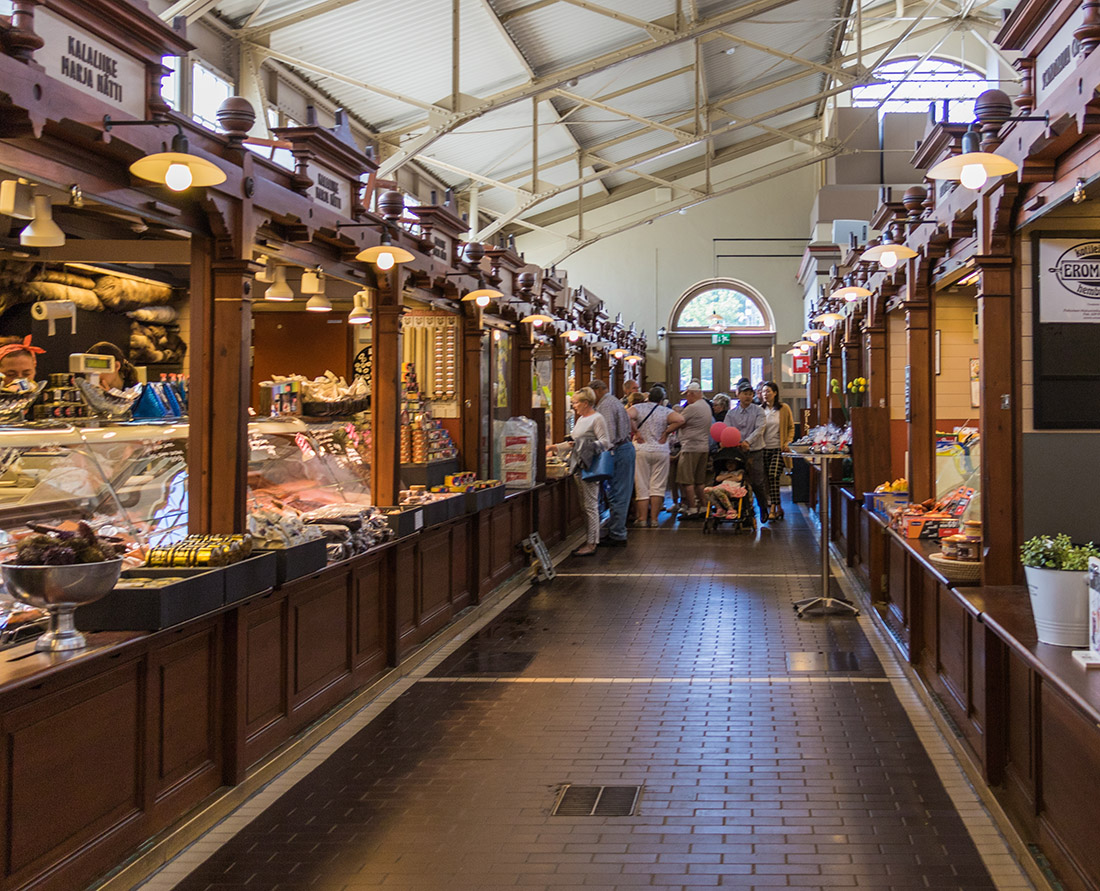 The Old Market Hall at Vanha Kauppahalli in Helsinki is fit for any foodie with an abundance of fresh authentic delicious foods produced locally. The market is located centrally on Helsinki's harbour near Market Square and has been open since 1889.