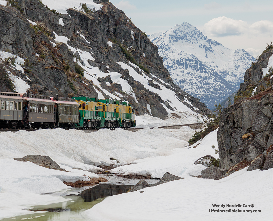 The White Pass and Yukon Railway is one of the most scenic train route in North America. Photo Credit: Wendy Nordvik-Carr©