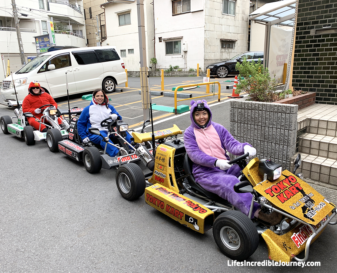 Take a Go-Kart sightseeing tour in Tokyo. It is one of Japan's top 5 unique cultural experiences. Photo Credit: Melanie Lomond©