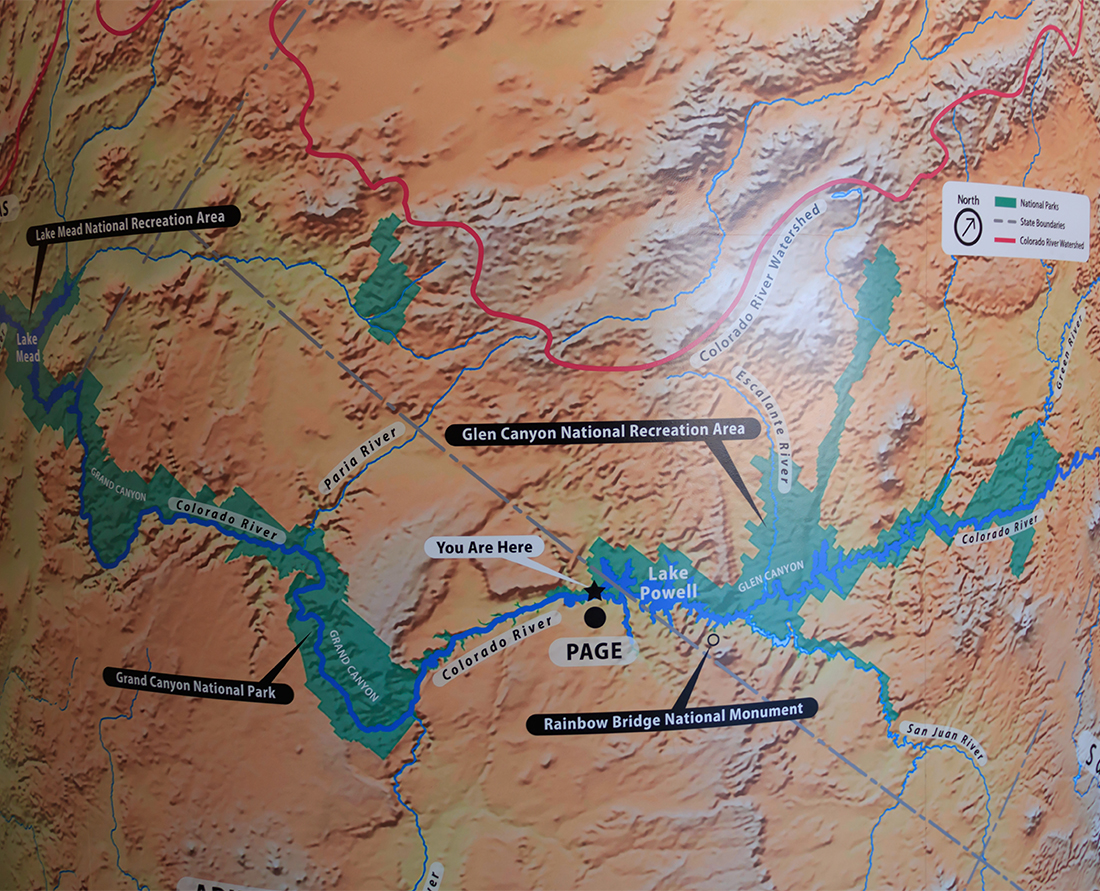 Map of Glen Canyon National Recreational Area Photo Credit: Wendy Nordvik-Carr©