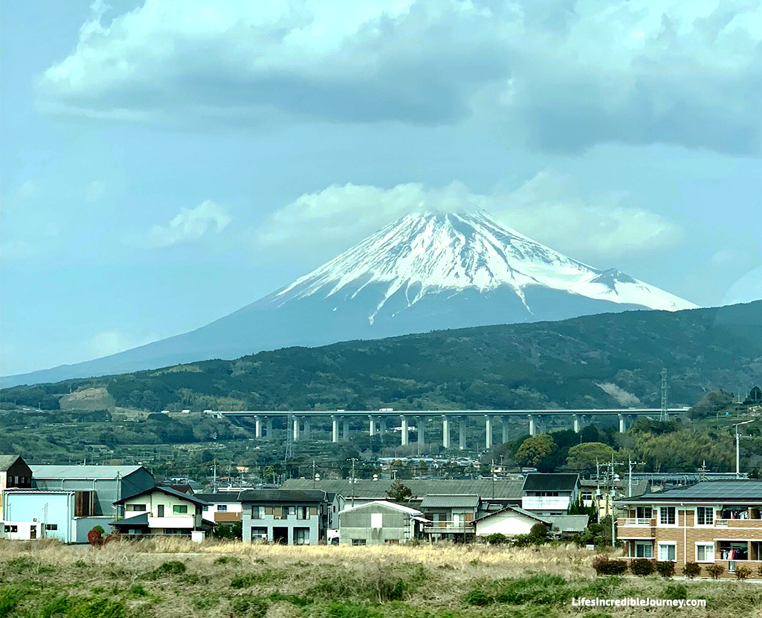 """Mount Fuji is the highest mountain in Japan. It is also an active volcano. Photo Credit: Melanie Lomond©"