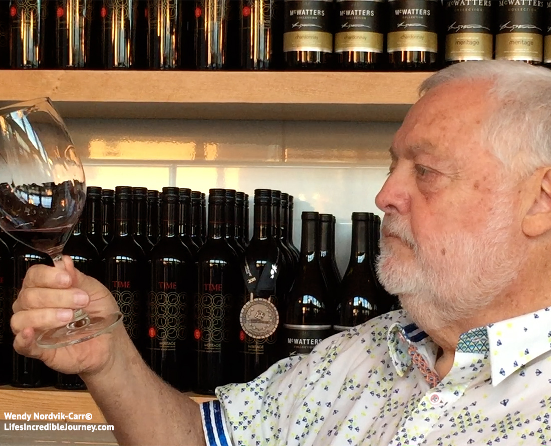 Harry McWatters great BC wine pioneer at Time Winery, Penticton. Photo Credit: Wendy Nordvik-Carr©