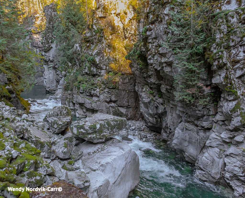 The impressive Coquihalla River runs along the Othello Tunnels route. Photo Credit: Wendy Nordvik-Carr©