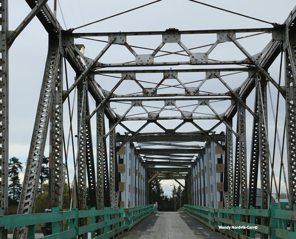 Historic Westham Island Swing Bridge in Delta BC. Photo Credit: Wendy Nordvik-Carr©