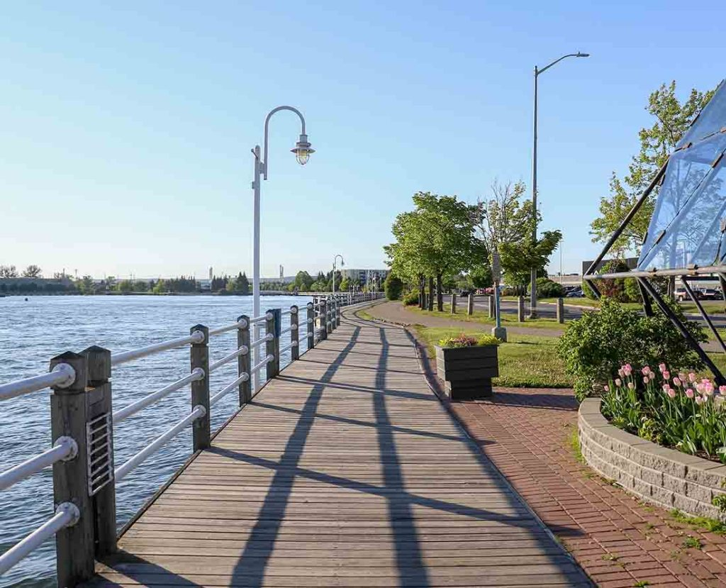 St. Marys River Boardwalk is one of the best things to do in Sault Ste. Marie. Photo: Wendy Nordvik-Carr©
