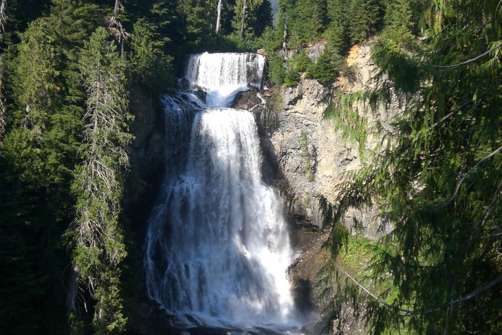 Best waterfalls in BC, Alexander Falls near Whistler. Photo Credit Natalie Tsang, Flicr