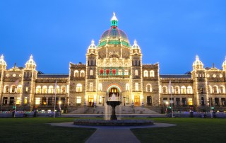 Victoria Legislature Building Night Lights - Photo Credit: Destination Greater Victoria©