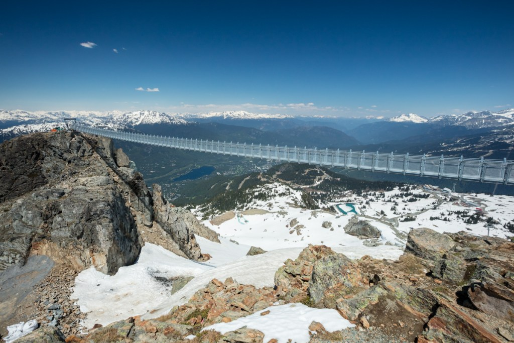 Top things to do in Whistler - Walk the Cloudraker Sky Bridge. Photo Credit: Vail Resorts/Mitch Winton