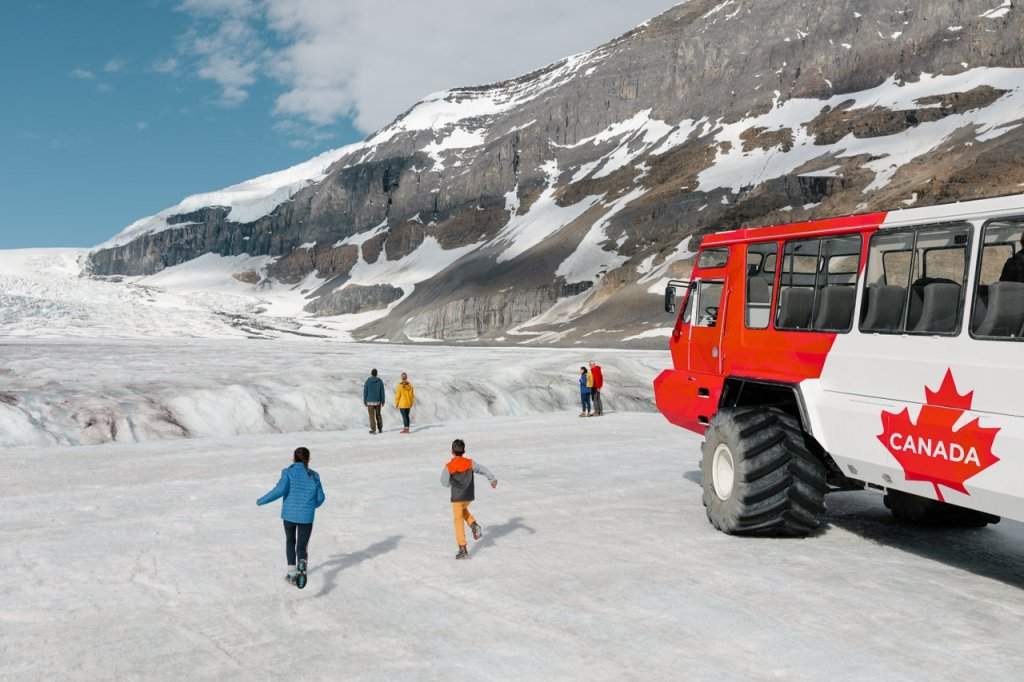 The Columbian Icefields - One of the top 10 things to do in Banff, Lake Louisese area is exploe the Columbia Icefields. Photo Credit: Mike Seehagel