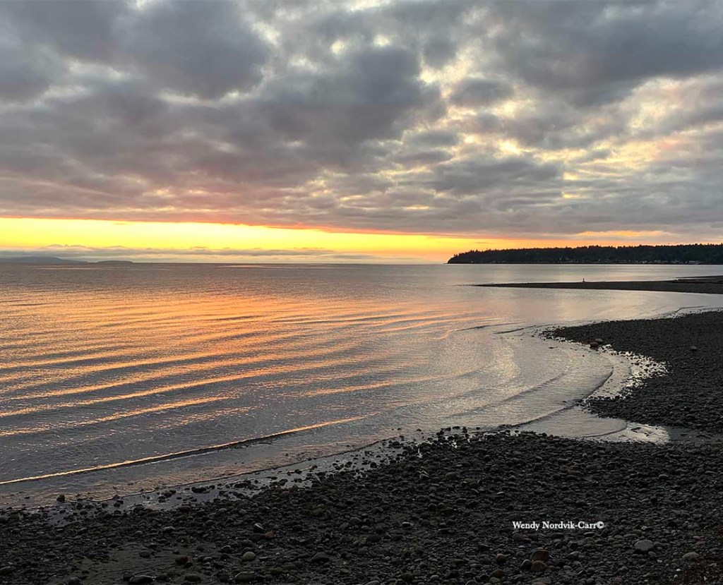 Stunning sunsets on Vancouver Island at Qualicum Beach on of the island's best beaches. Photo Credit: Wendy Nordvik-Carr©