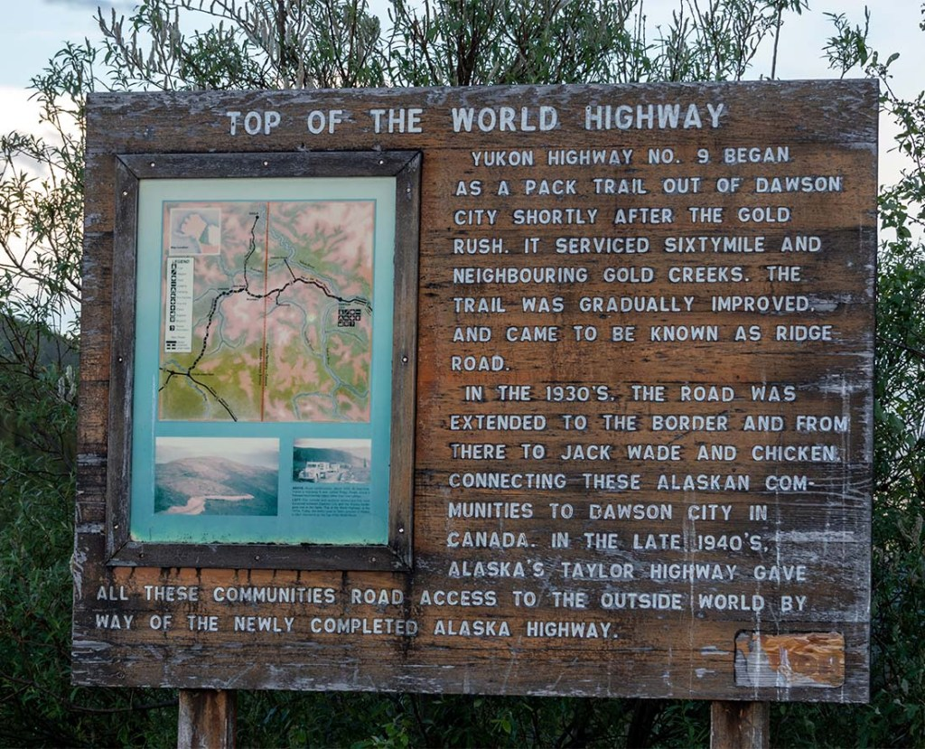 Top of the World Highway is an iconic scenic drive in the Yukon.