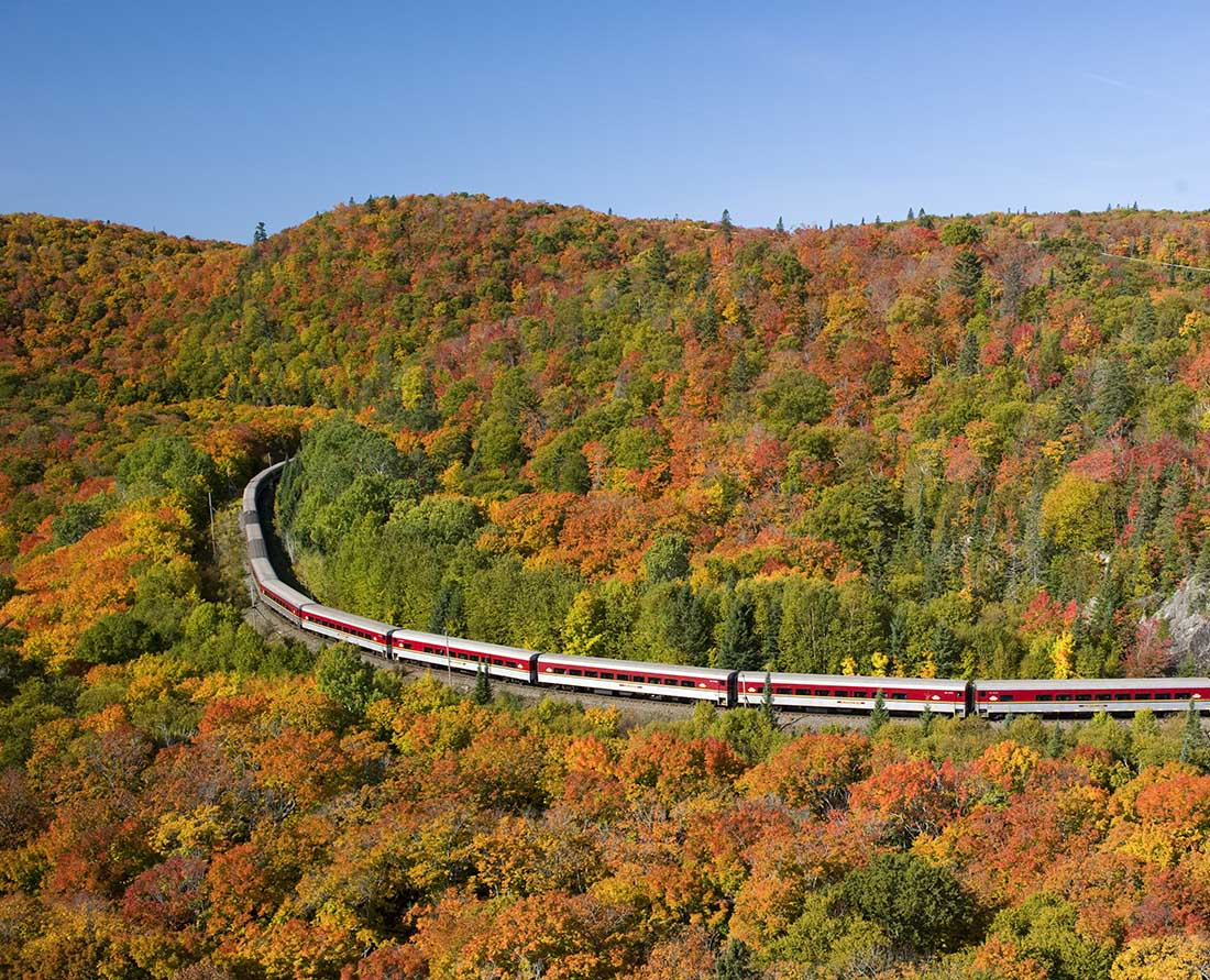 The top scenic drive in Ontario provides access to the stunning fall colours of Algoma. Photo Credit: Ontario Tourism Marketing Partnership