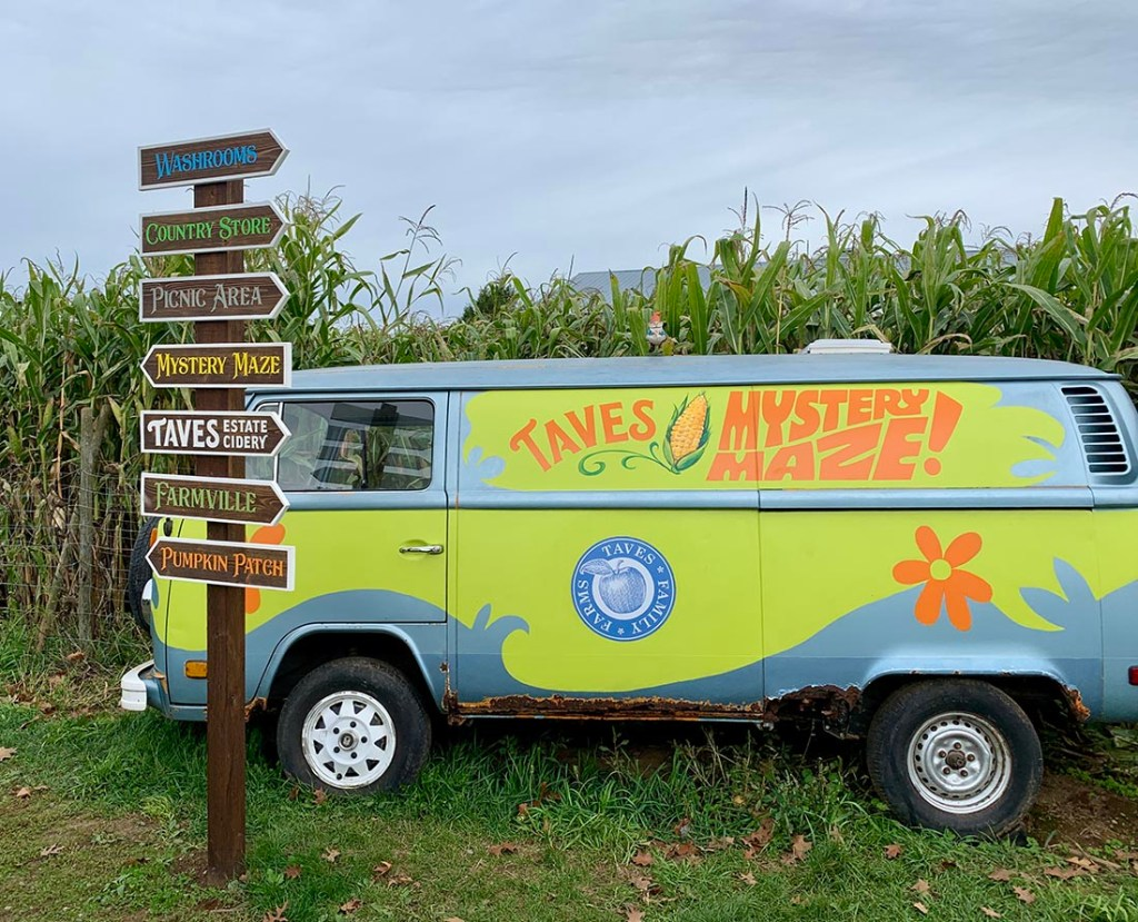 There are lots of different areas to explore at Taves Family Farms. Photo: Wendy Nordvik-Carr©