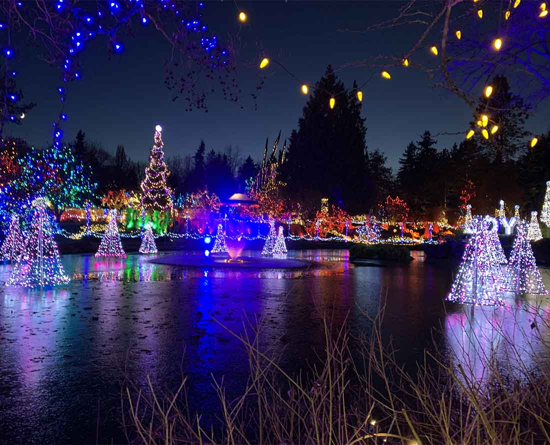 Best Metro Vancouver Christmas Events and holiday lights VanDusen Gardens Festival of Lights