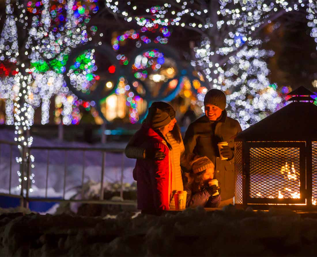 Whistler Christmas Lights is one of the best places to enjoy the festive holidays near Metro Vancouver. Photo: Tourism Whistler/Justa Jeskova