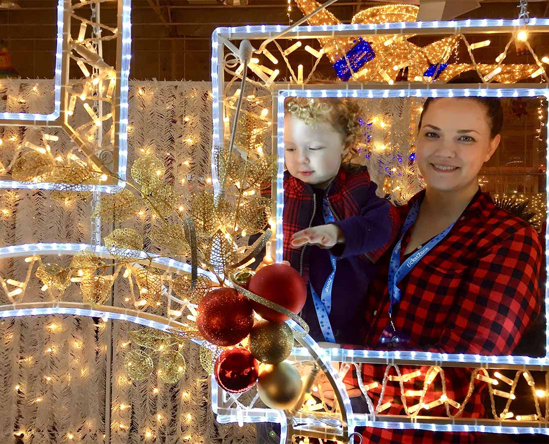 See some of the best Christmas Lights Vancouver at Glow Langley. Photo: Wendy Nordvik-Carr