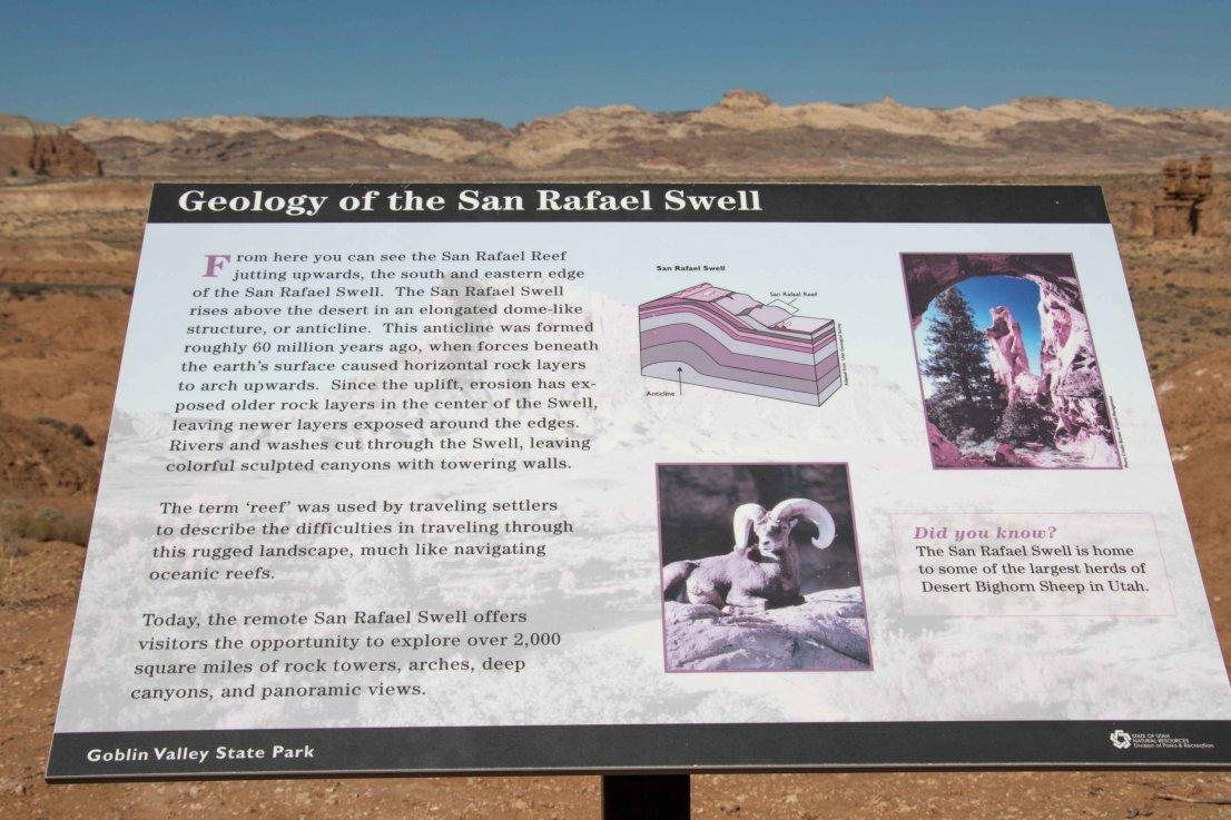 Learn about the geology of the San Rafael Swell in Goblin Valley, Utah.