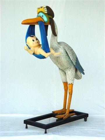 Stork delivering a Baby