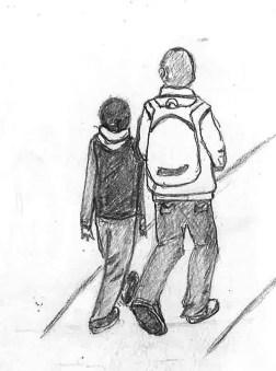 Morning walk to school