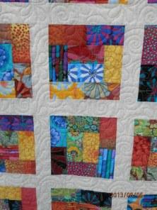 Close-up of quilt