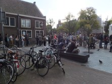 Line waiting for Anne Frank House