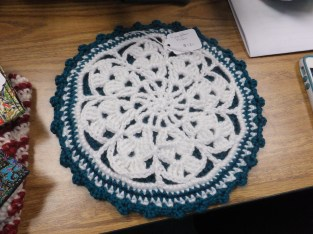 Crocheted candlel pads
