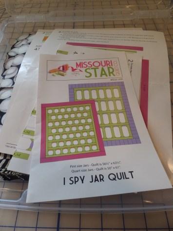 I Spy Jar Quilt pattern