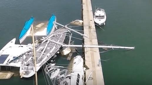 Vue de drone après Irma