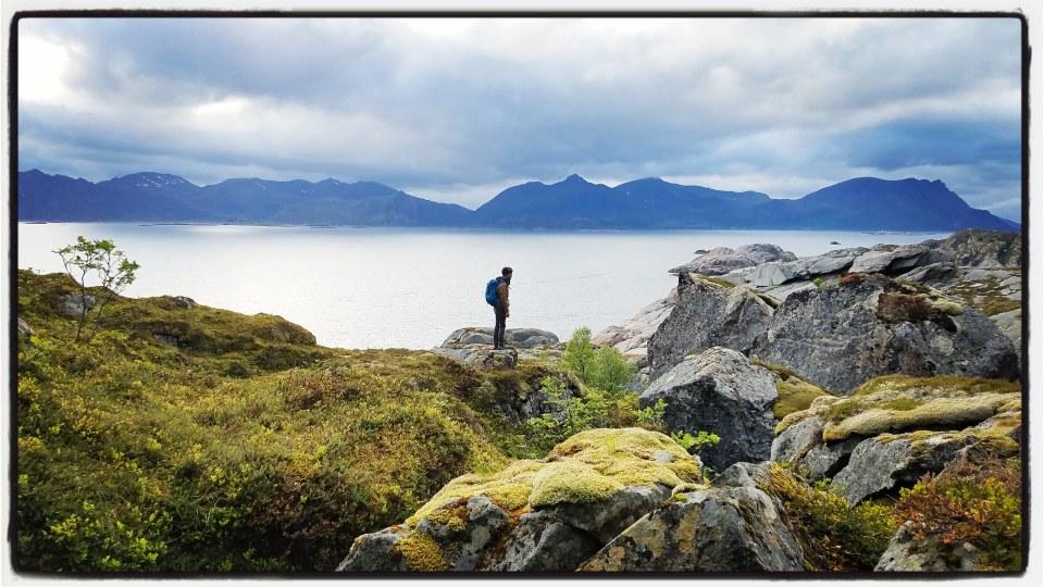 Seul au monde lors d'une randonnée en Norvège
