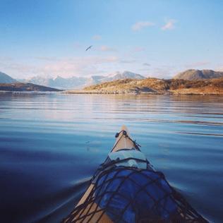 Kayak en Norvège