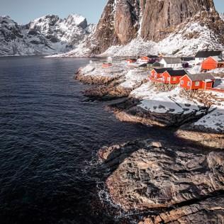 Montagnes aux Lofoten, Norvège