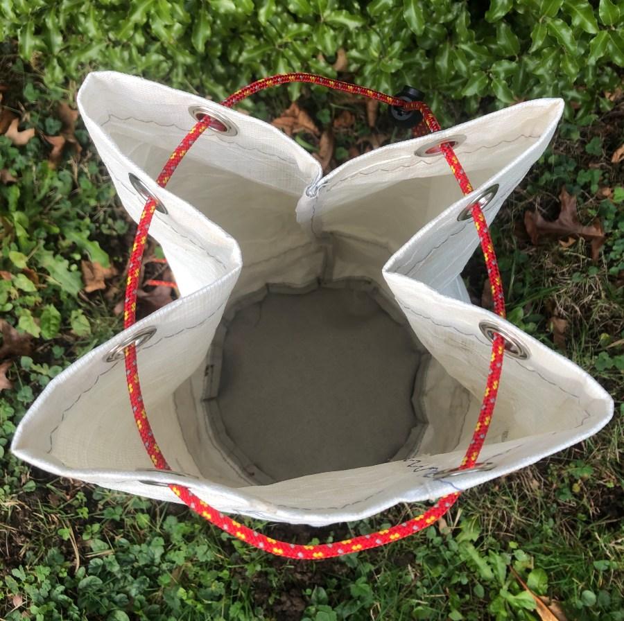 ouverture sac marin en toile de voile recyclé