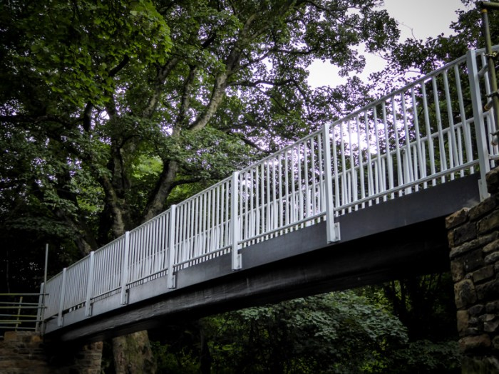 Completed New FRP Footbridge at Bird Ridding for North Yorkshire CC