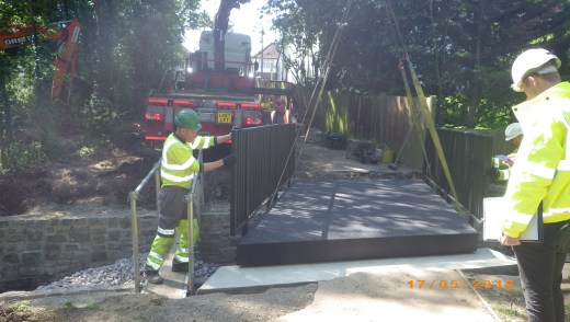 Easy Installation of FRP Footbridge