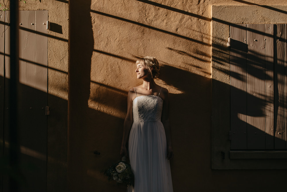 bride in Provence, south of France