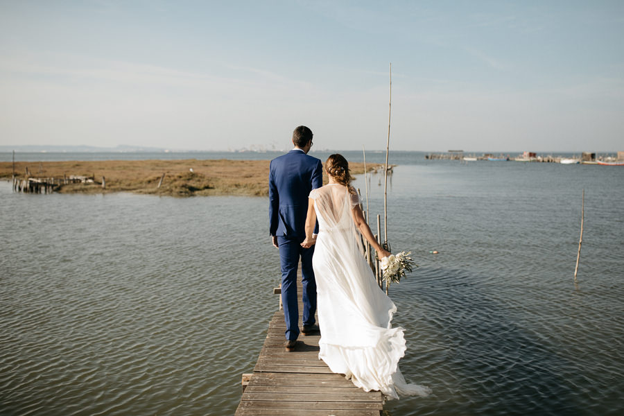 Couple after their wedding at Sublime Comporta
