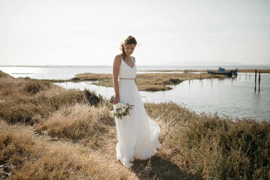 Bride at her wedding at Sublime Comporta