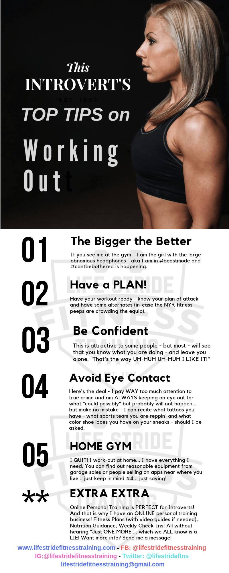 Introvert's Tips for Working Out - full