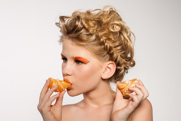 locken orange makeup orange