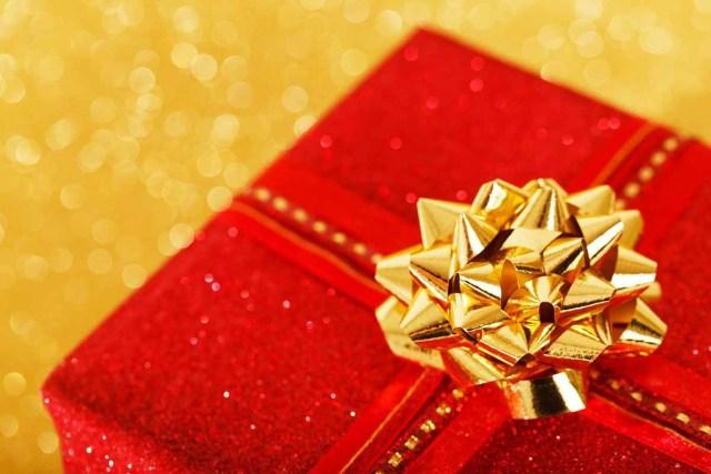 Geschenk Weihnachtsgeschenk Gold