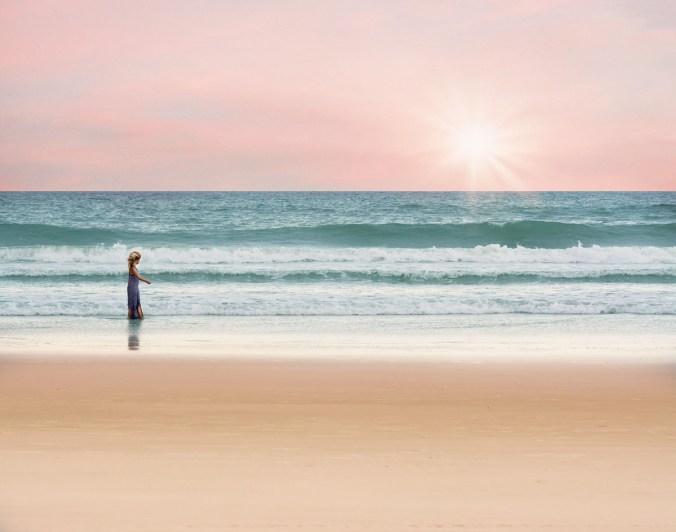 Strand Mädchen Meer