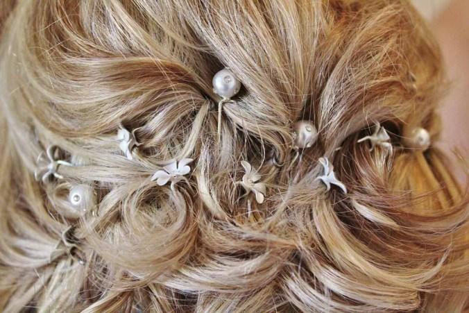 Haarschmuck Hochzeitsfrisur Haarkette