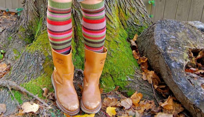 Socken Stiefel Rock