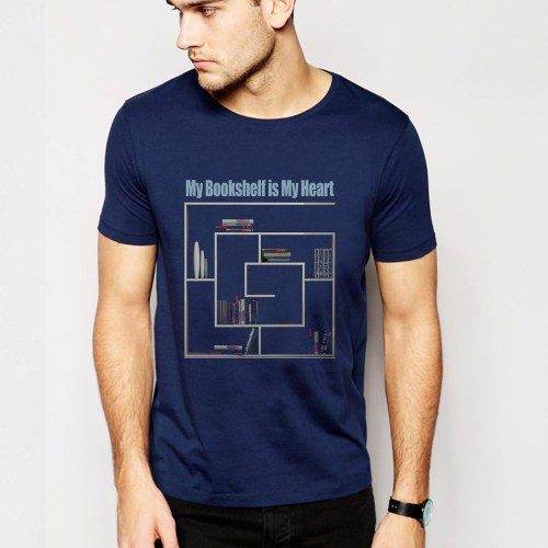 Printshirt Books Herz